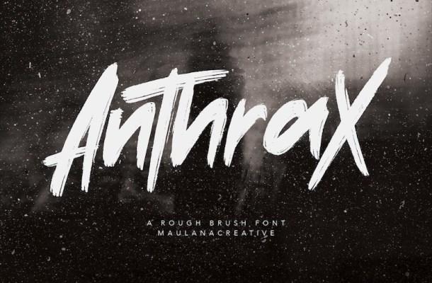 Anthrax Brush Font