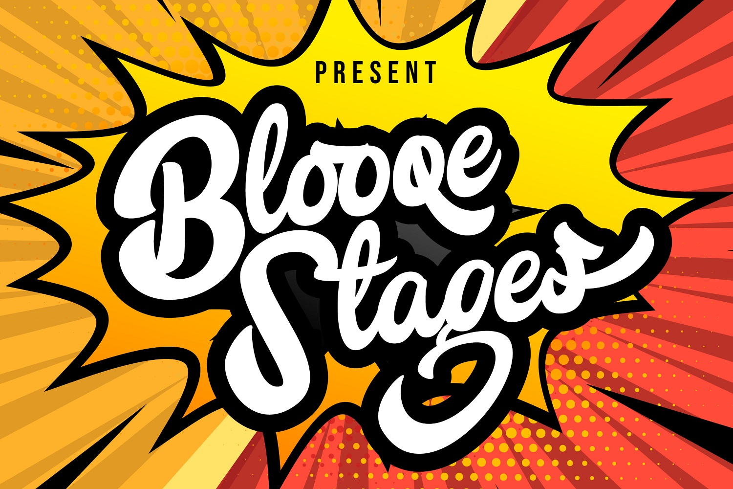 Blooqe Stages Bold Script Font-1