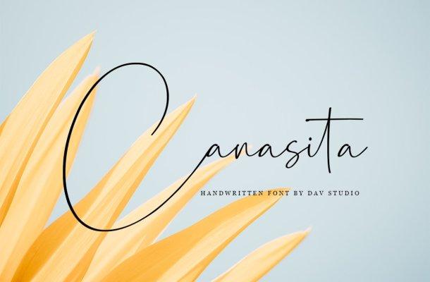 Canasita Signature Handwritten Font