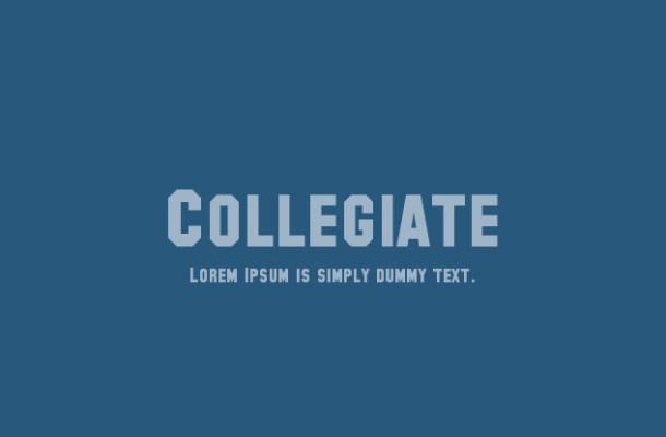 Collegiate Serif Font Family