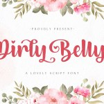 Dirly Belly Bold Calligraphy Script Font