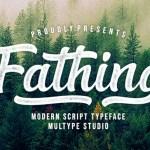 Fathing Modern Bold Script Font