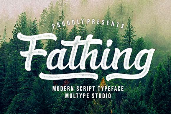Fathing Modern Bold Script Font-1