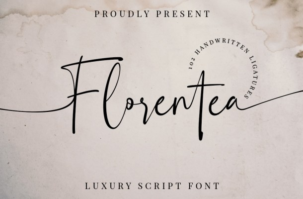 Florentea Luxury Calligraphy Script Font-1