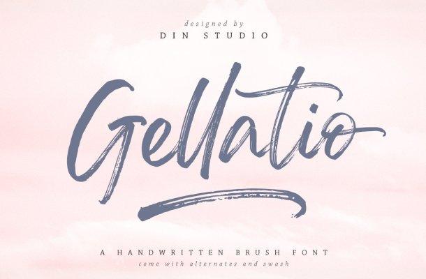 Gellatio Brush Script Font-1
