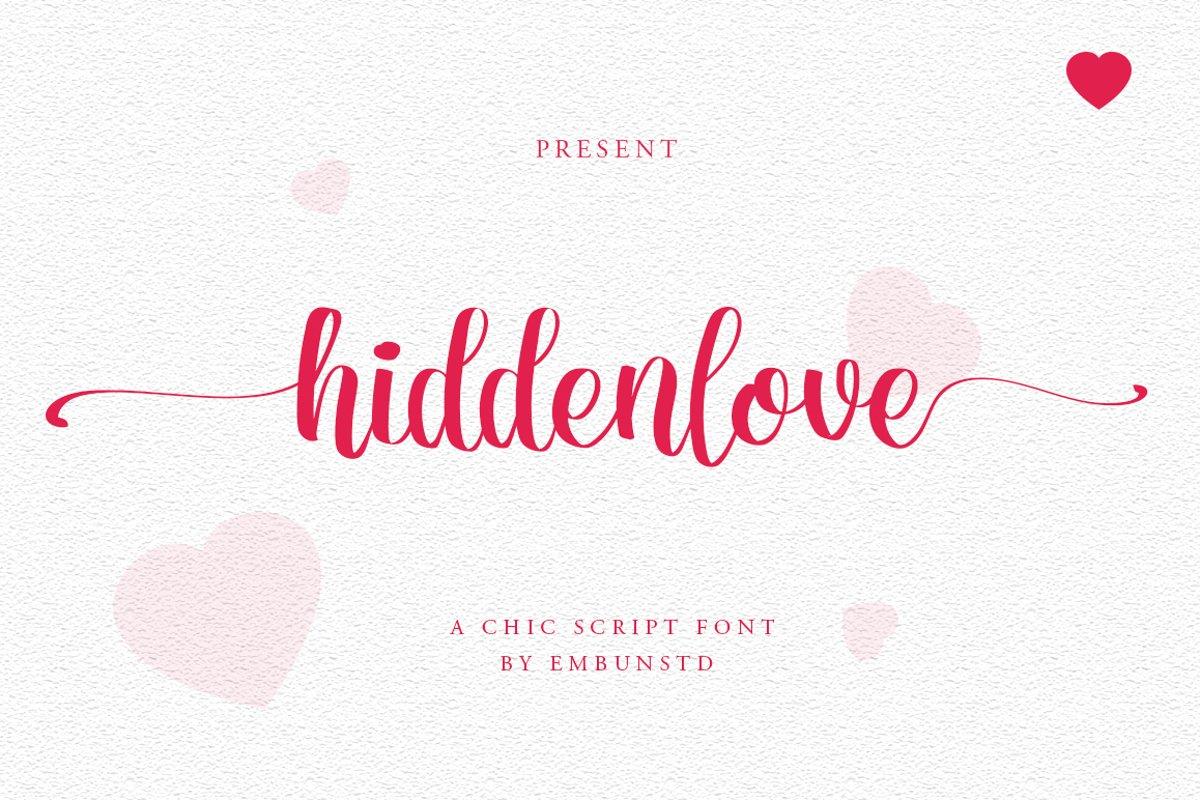 Hiddenlove Calligraphy Script Font-1
