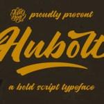 Hubolt Bold Script Font