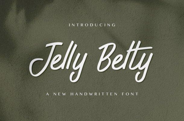 Jelly Belty Handwritten Script Font