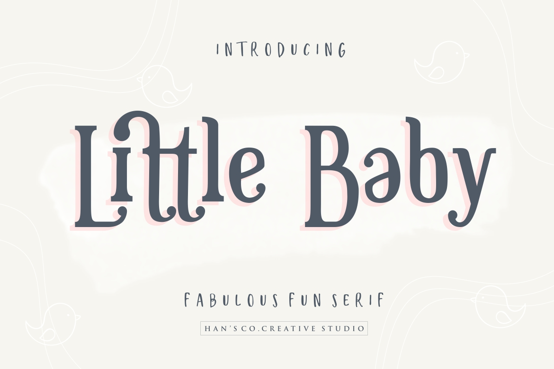 Little Baby Fun Serif Font-1