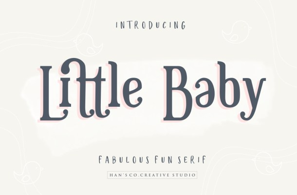 Little Baby Fun Serif Font-1