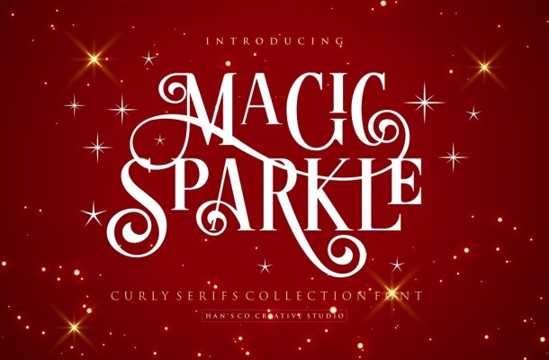 Magic Sparkle Serif Font
