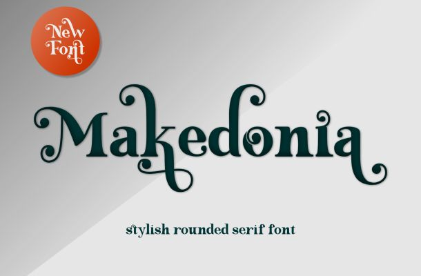 Makedonia Stylish Rounded Serif Font