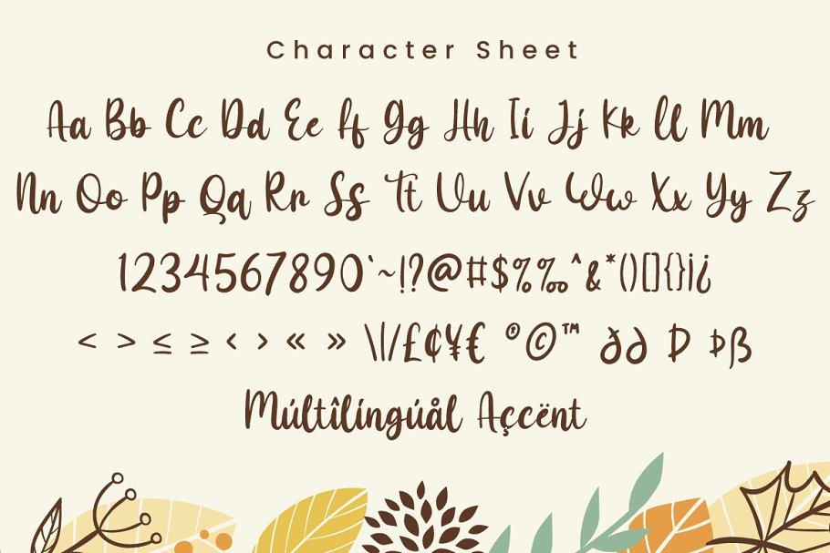 Maple Memories Handwritten Script Font-4
