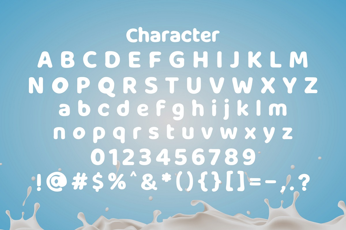 Milky Nice Display Font-3