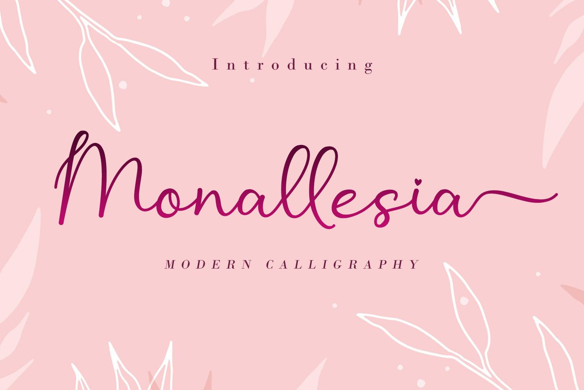 Monallesia Calligraphy Script Font-1