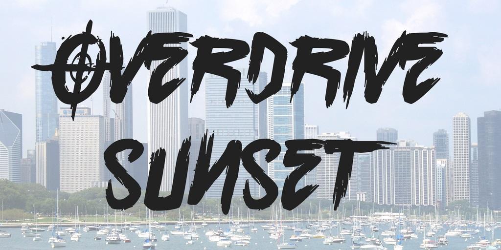 Overdrive Sunset Brush Font-1