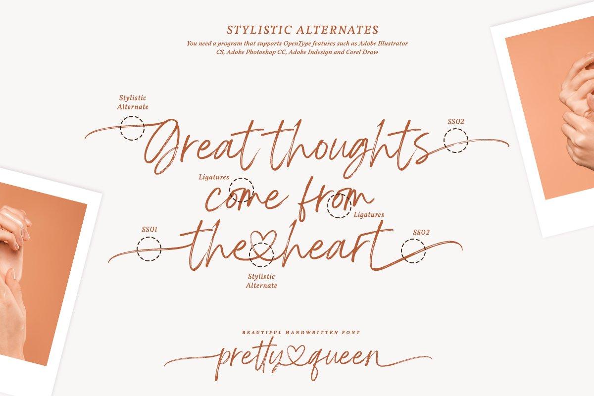 Pretty Queen Handwritten Brush Font-3