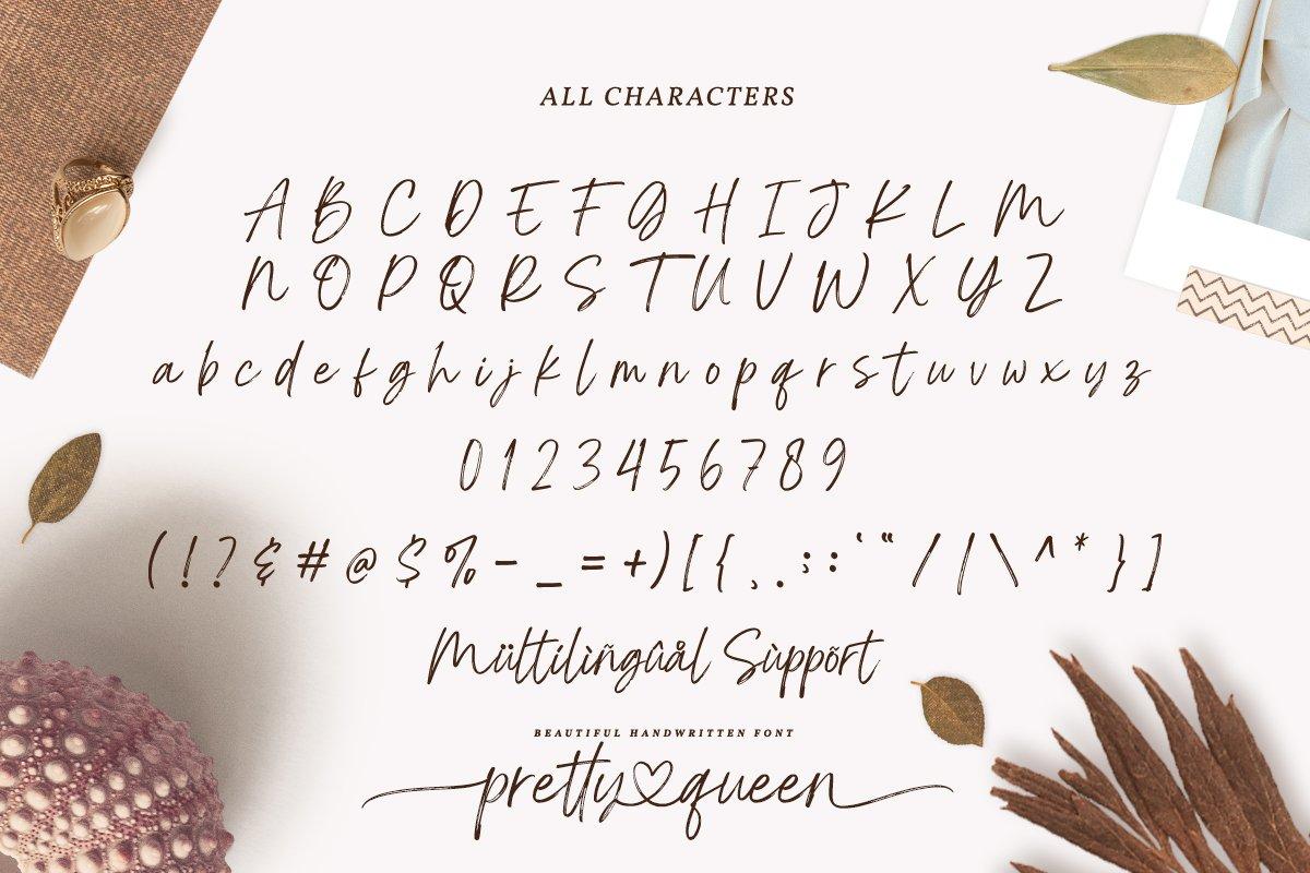 Pretty Queen Handwritten Brush Font-4