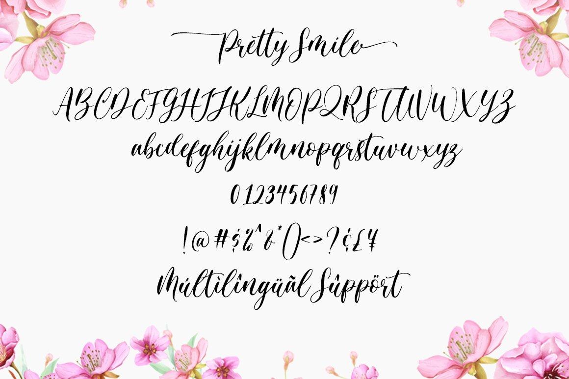 Pretty Smile Calligraphy Script Font-3