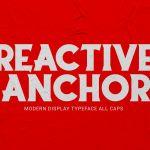 Reactive Anchor Serif Display Typeface