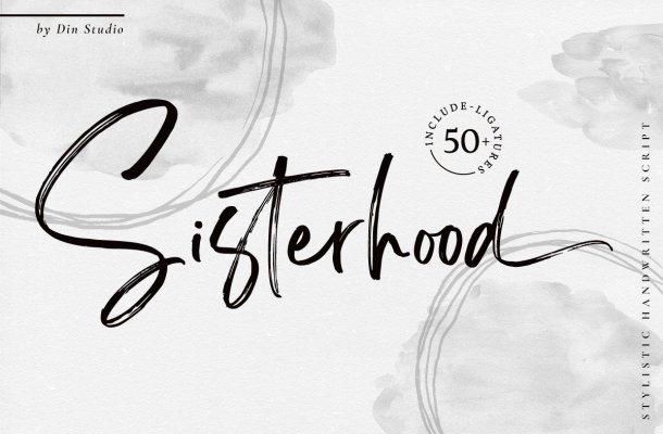 Sisterhood Brush Script Font-1