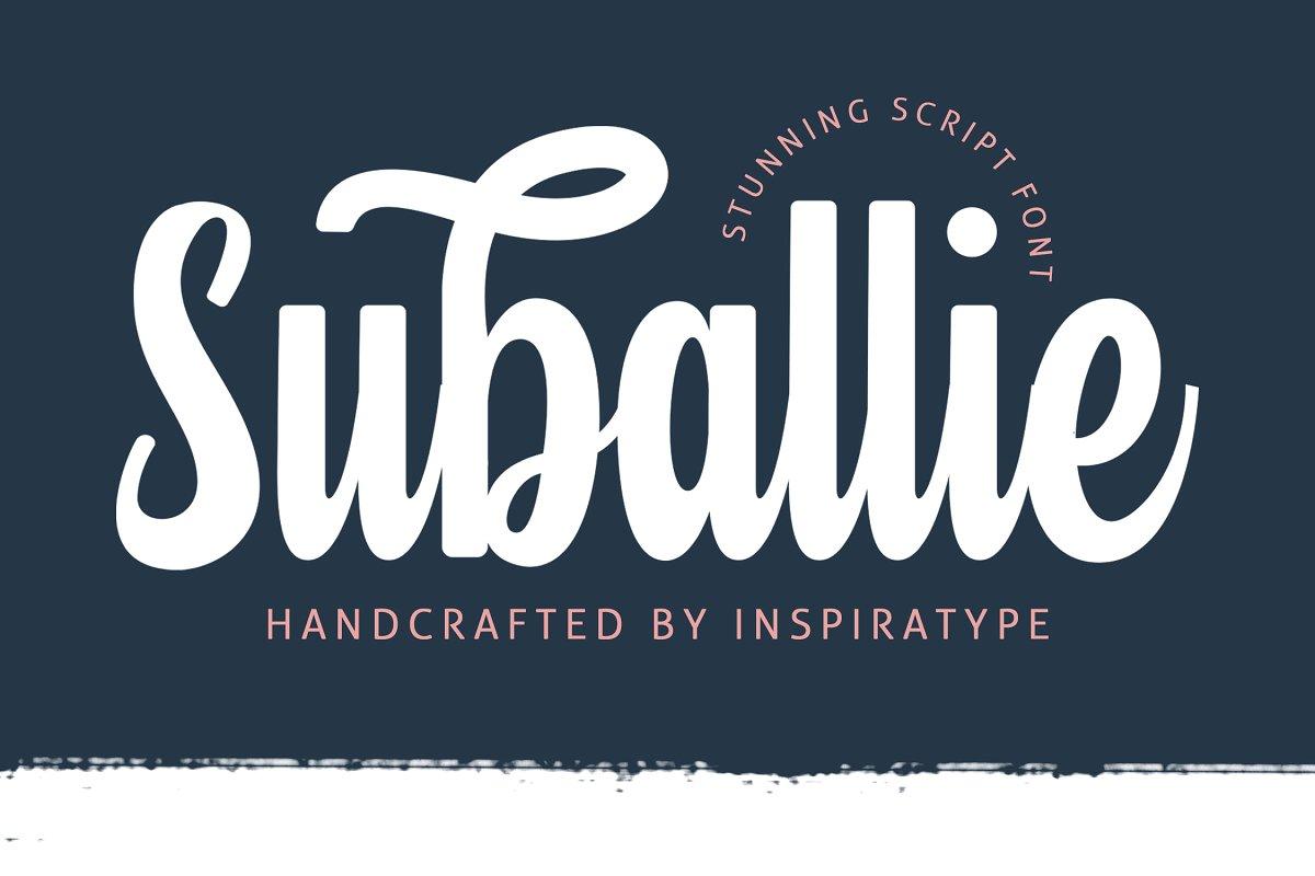 Suballie Bold Script Font-1
