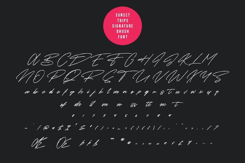 Sunset Trips Brush Script Font-3