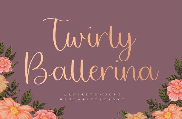 Twirly Ballerina Handwritten Script Font