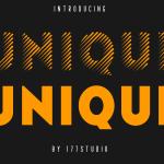 Unique Sans Serif Font