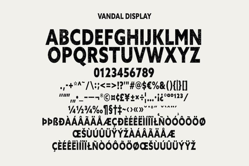 Vandal Sans Serif Display Font-5