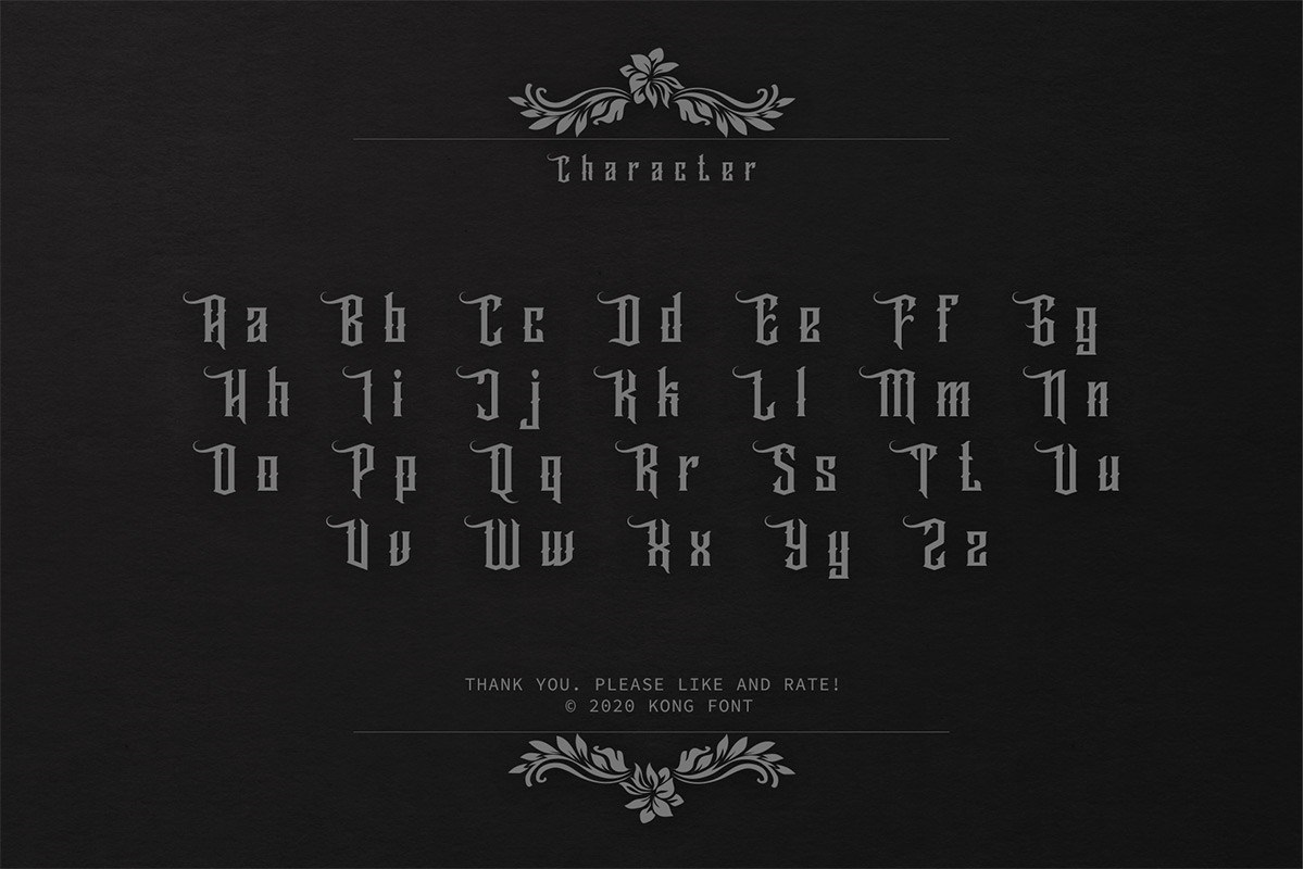 Wallrous Blackletter Tattoo Typeface-3