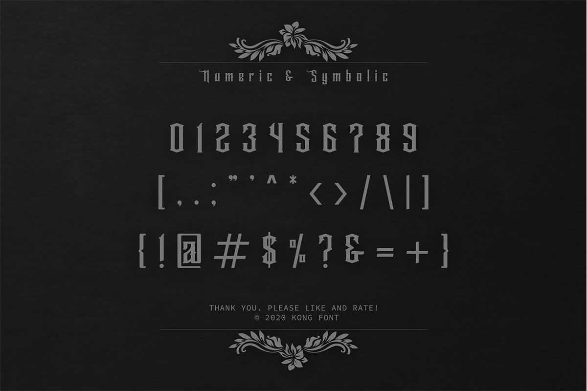 Wallrous Blackletter Tattoo Typeface-4