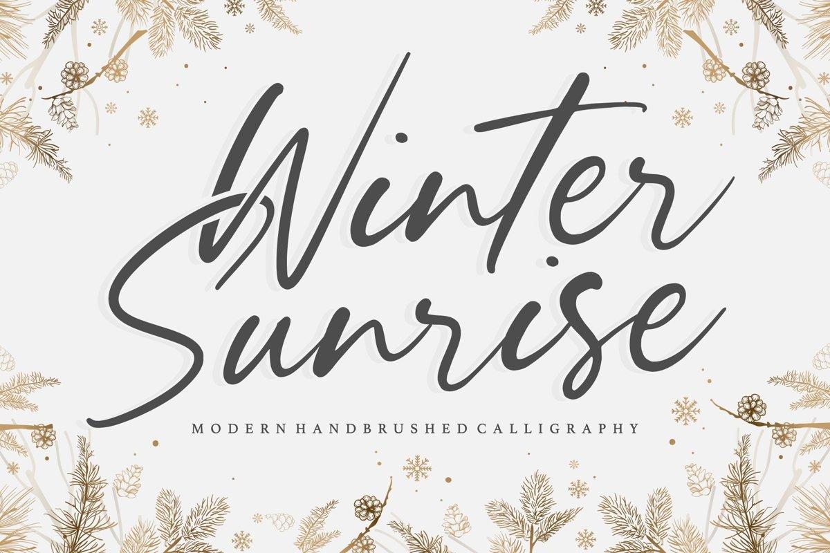 Winter Sunrise Handwritten Script Font-1