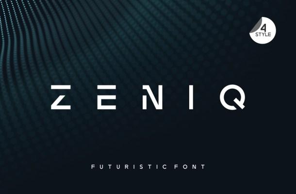Zeniq Modern Sans Display Font