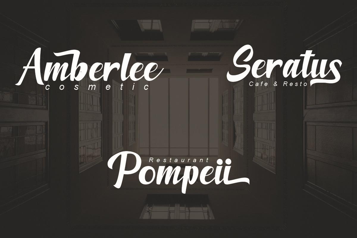 Amberllee Modern Script Typeface-3