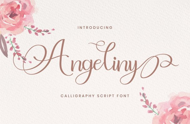 Angeliny Calligraphy Script Font