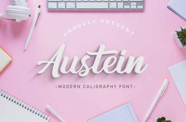 Austein Bold Script Font