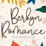 Berkyn Romance Playful Handwritten Font