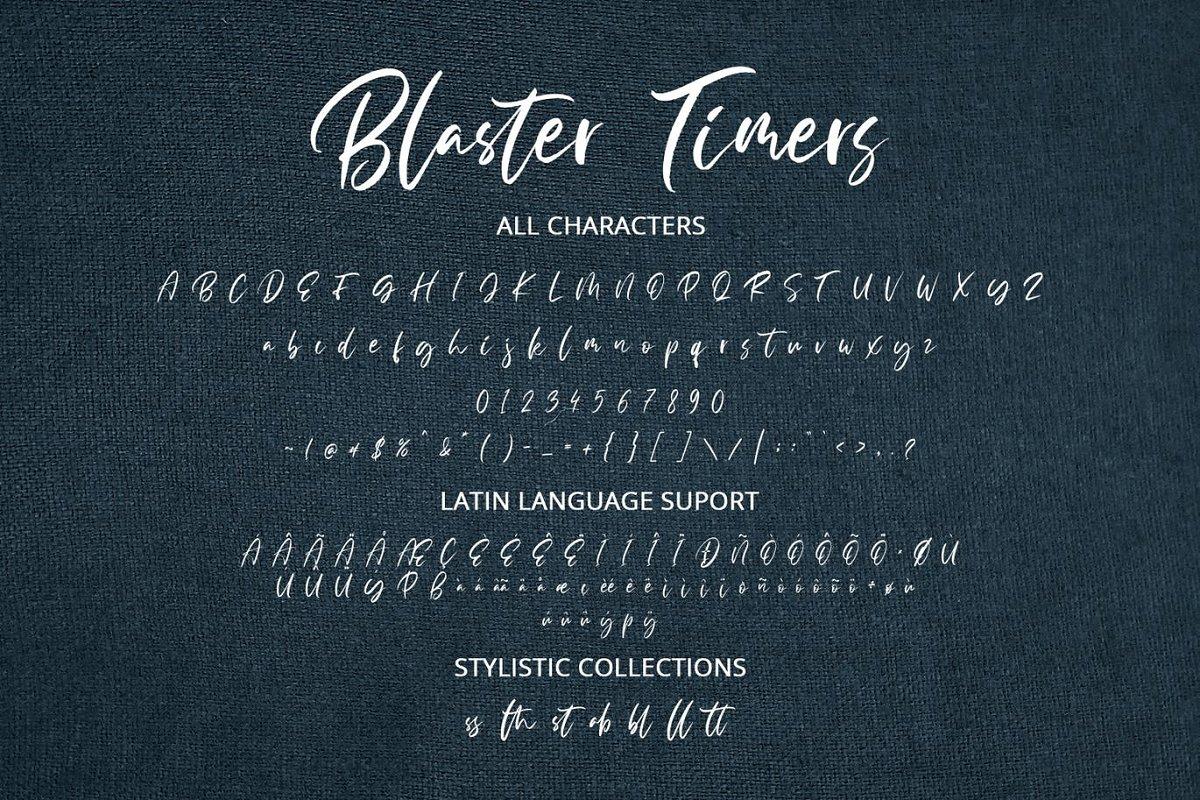 Blaster Timers Brush Script Font-3