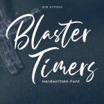 Blaster Timers Brush Script Font