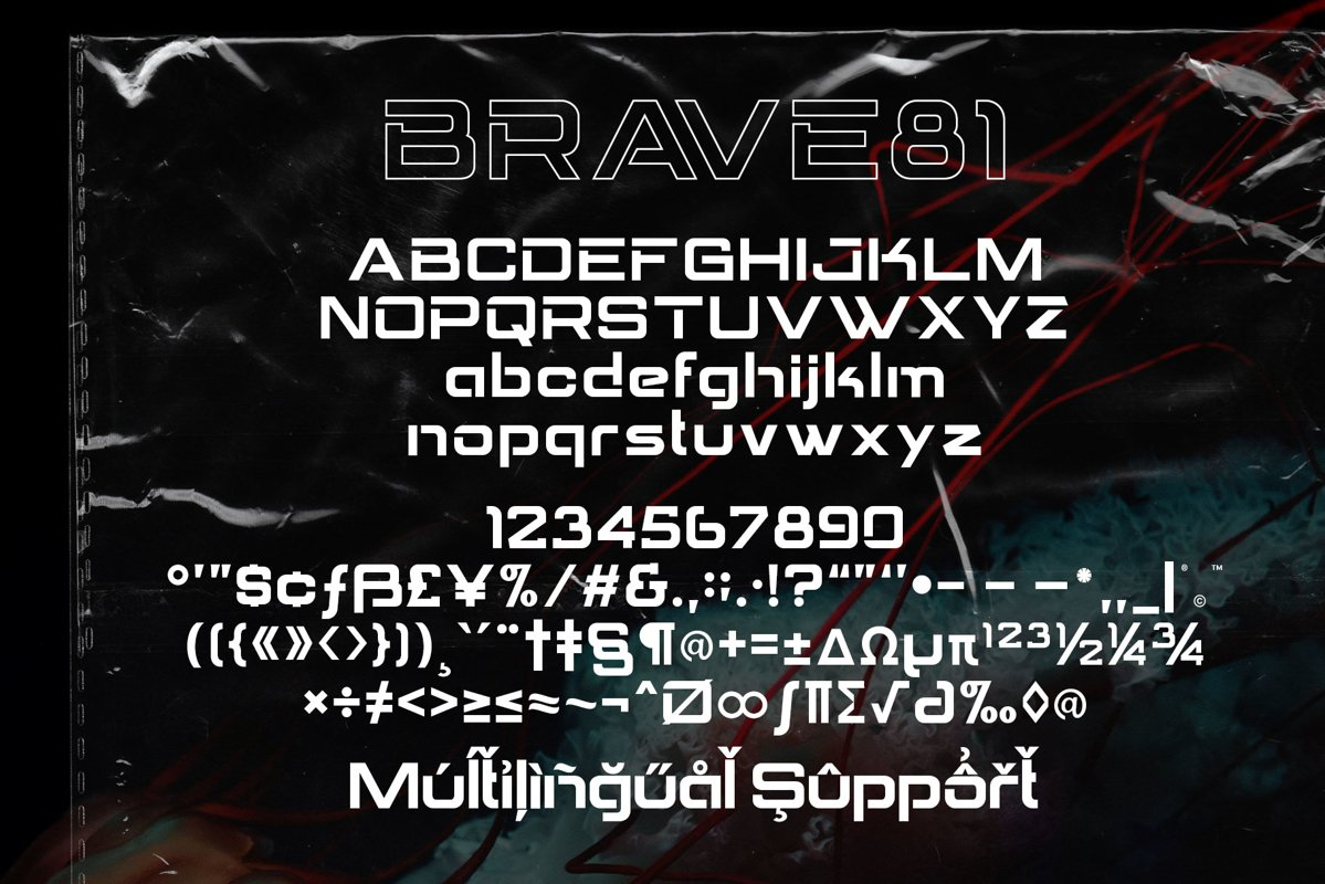 Brave Eighty One Display Typeface-3