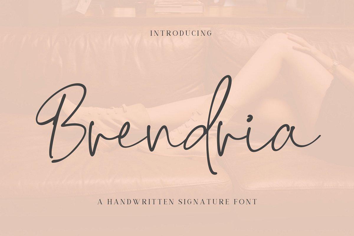 Brendria Handwritten Signature Font