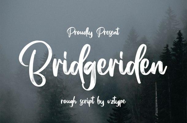 Bridgeriden Brush Script Font-1