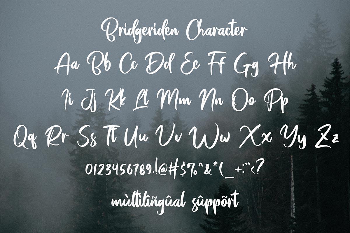 Bridgeriden Brush Script Font-4