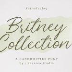 Britney Collection Handwritten Script Font