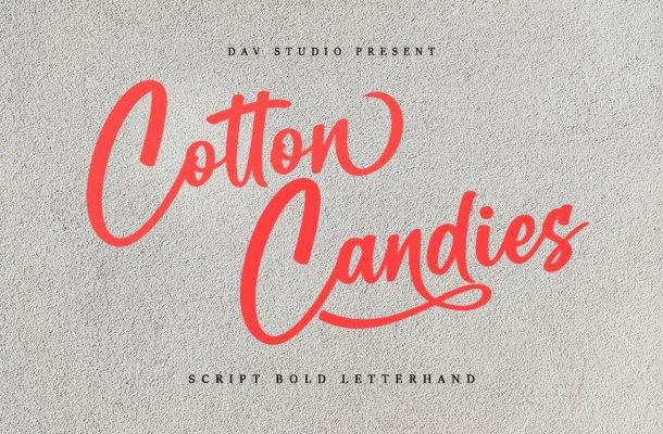 Cotton Candies Calligraphy Bold Script Font