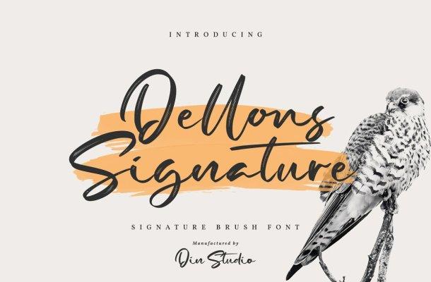 Dellons Signature Elegant Brush Font