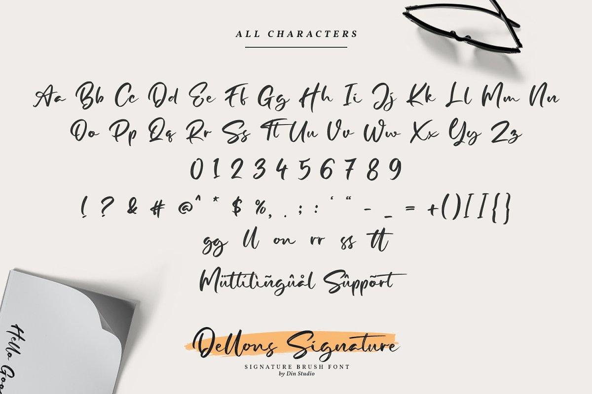 Dellons Signature Elegant Brush Font=4