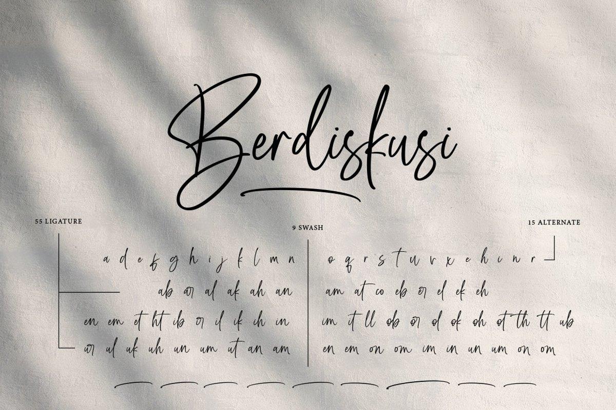Dioksiany Handwritten Script Font-3