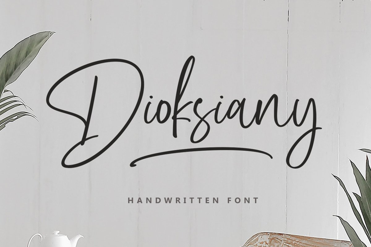 Dioksiany Handwritten Script Font